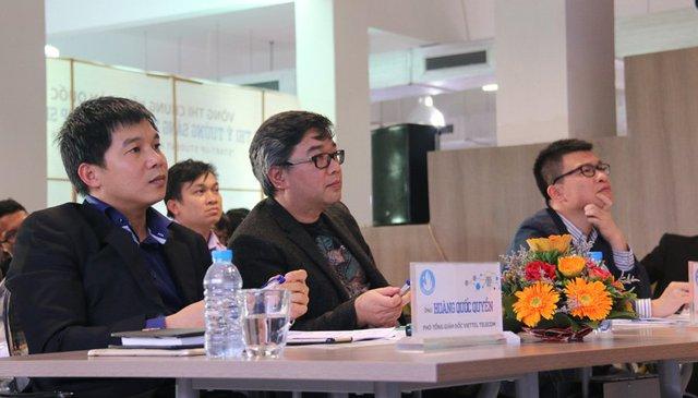 Ban giám khảo là các nhà đầu tư, các chuyên gia nhiều kinh nghiệm về khởi nghiệp ở Việt Nam. Ảnh: Nguyễn Thảo
