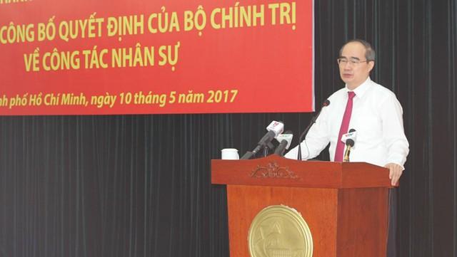 Ông Nguyễn Thiện Nhân phát biểu tại buổi trao quyết định.