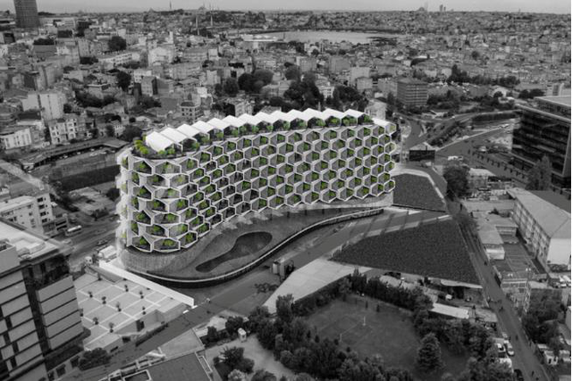 photo 5 1495527525638 Độc lạ với tòa nhà tổ ong xanh mướt giữa đô thị