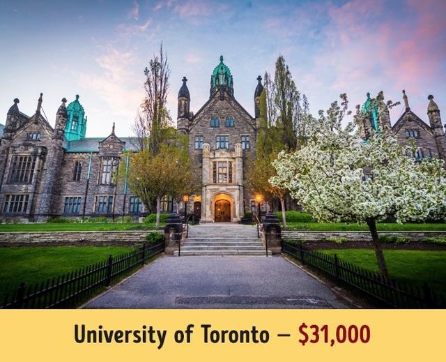 A?a??i ha�?c Toronto cA? ma��c ha�?c phA� trung bA�nh nA?m lA� 31.000$.