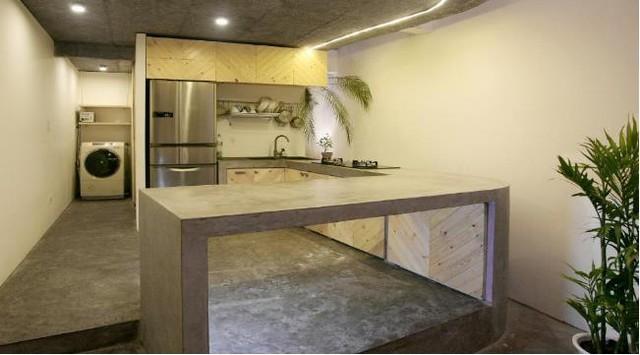 Vật liệu để làm nên công trình hoàn toàn là những vật liệu tự nhiên, mộc mạc.