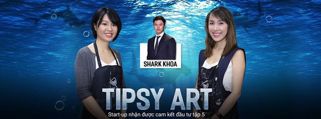 2 cô gái Cofounders của Tipsy Art được các Sharks đánh giá thông minh và tâm huyết. Gây dựng startup chỉ với 20 triệu đồng, 2 cô gái đã gọi vốn thành công từ Shark Khoa 2,2 tỷ đồng, tương đương 35% cổ phần.