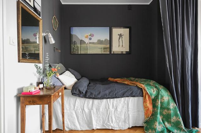 Nằm khép mình trong 1 góc nhỏ xinh nhưng phòng ngủ luôn bảo đảm sự tha hồ nhất cho chủ nhà nhờ bên trong xe tối màu và và bộ chăn ga có lý do môi trường xung quanh vô cộng êm ái.
