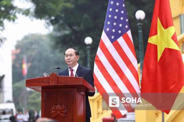Chủ tịch nước cho biết, đã nhất trí về tầm quan trọng của quan hệ đối tác chiến lược Việt Nam - Mỹ, Mỹ - ASEAN. Chủ tịch nước bày tỏ tin tưởng sự phát triển của quan hệ Việt Nam - Mỹ sẽ đem lại lợi ích cho cả hai nước, đồng thời củng cố và tăng cường quan hệ Mỹ - ASEAN, đóng góp cho hòa bình, ổn định trong khu vực. Trong chuyến thăm cấp Nhà nước của tổng thống Mỹ tới Việt Nam, song phương đã ra tuyên bố chung nhất trí làm sâu sắc hơn quan hệ đối tác toàn diện trên nguyên tắc tôn trọng thể chế chính trị, toàn vẹn lãnh thổ.