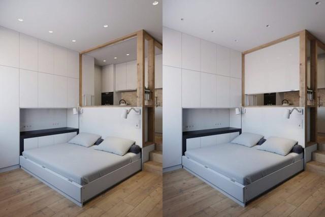 Và thật tuyệt vời, đây cũng chính là nơi nghỉ ngơi thoải mái cho hai người. Tạo một góc nghỉ ngơi trong căn hộ này thật đơn giản chỉ với thao tác nhẹ kéo chiếc ghế ra.