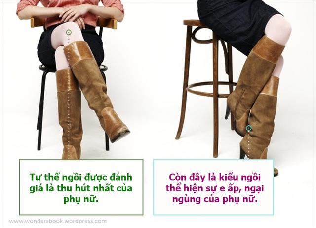 Những dáng ngồi thường thấy của phụ nữ.