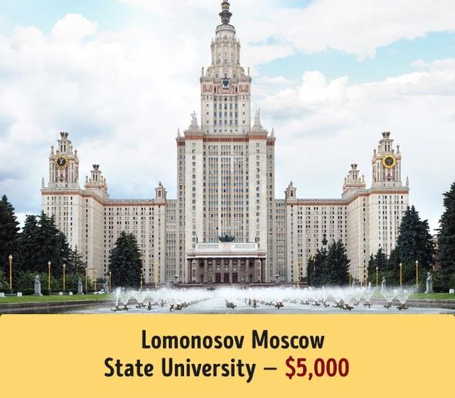 Trường Đại học Lomonosov Moscow có mức học phí trung bình 5.000$.