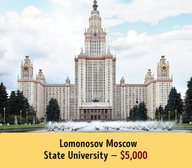 Tr?�a�?ng A?a??i ha�?c Lomonosov Moscow cA? ma��c ha�?c phA� trung bA�nh 5.000$.