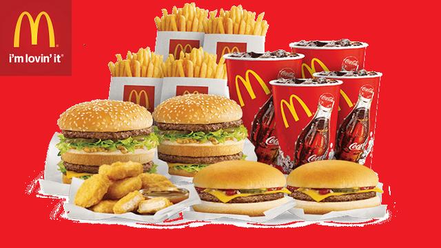 Các món ăn và logo chữ M vàng nổi tiếng khắp thế giới.