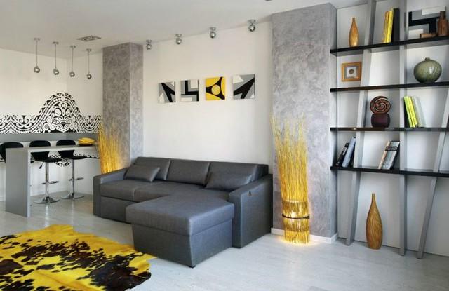 Phòng khách được ưu tiên bố trí một khu ực rộng thoáng nhất.