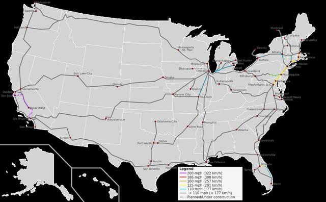 Với mạng lưới trải rộng và cách xa như thế, hiện tại nhu cầu sử dụng đường sắt của người dân Mỹ rất thấp.