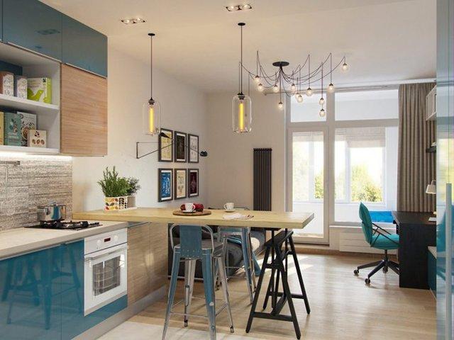 Điểm ấn tượng đặc biệt nhất trong căn nhà này đó là những món đồ nội thất với gam màu xanh tươi mát xuyên suốt chiều dọc không gian.