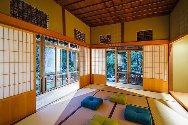 Nệm tạo sự thông thoáng, dễ nhìn cho không gian và cũng là điểm nhấn bắt mắt cho ngôi nhà của người Nhật.