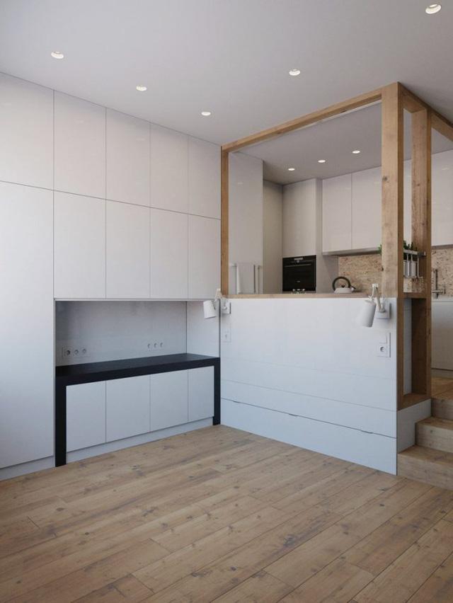 Và khi cần một không gian rộng thoáng thì phòng khách, phòng ngủ sẽ biến mất trong tích tắc. Tất cả mọi thứ được giấu kín hoàn toàn dưới sàn phòng bếp.