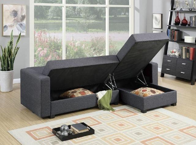 Nhà bạn sẽ còn gọn gàng hơn nữa nếu dưới ghế sofa cũng là một khi trữ đồ gọn gàng thế này.