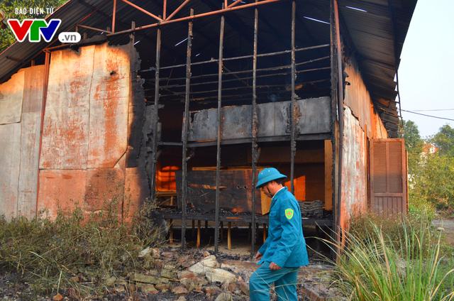 Hiện trường của vụ cháy sau khi ngọn lửa được dập tắt