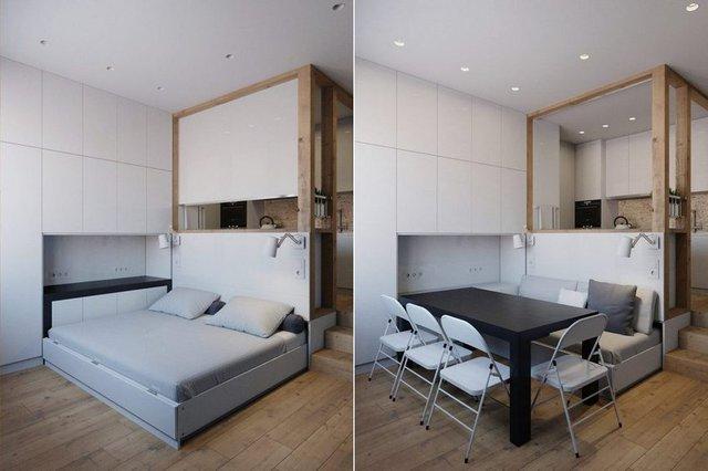 Không chỉ là không gian tiếp khách, nơi nghỉ ngơi, góc nhỏ này còn có thể biến thành chỗ tụ tập đông người.