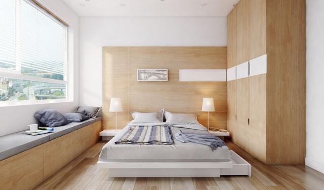 Góc nhỏ này được thiết kế với 2 gam màu tương phản trắng và nâu giúp căn phòng thêm hiện đại, tinh tế mà vẫn vô cùng bình yên, ấm áp.