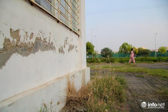 Hiện trạng tường nhà bị bong tróc, xuống cấp.