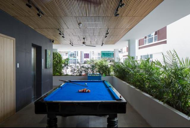 Dù diện tích không lớn nhưng khách sạn luôn có đầy đủ các phòng chức năng phục vụ nhu cầu giải trí của du khách.