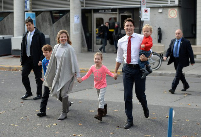 Cách nuôi dạy các con của Thủ tướng Trudeau khiến người dân Canada rất có thiện cảm với vị nguyên thủ quốc gia này.