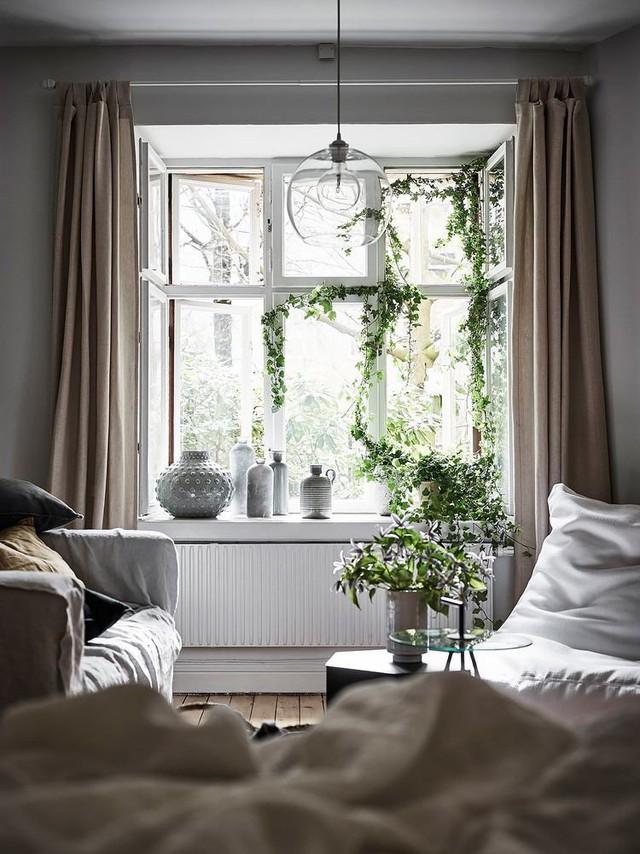 Ô cửa sổ được thiết kế rộng hết cỡ giúp không gian luôn ngập tràn ánh sáng thiên nhiên.