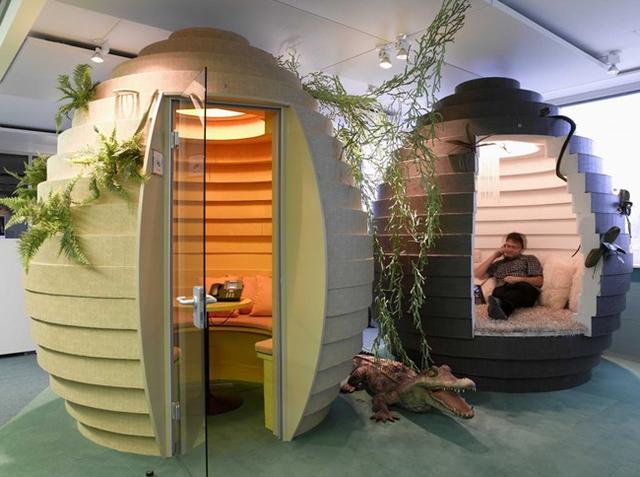 Những phòng làm việc dành cho nhân viên những lúc cần chỗ yên tĩnh tại Zurich, Thụy Sỹ.