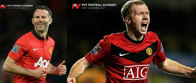 Hai danh thủ Ryan Giggs và Paul Scholes sẽ gia nhập vào đội ngũ nhân sự PVF.