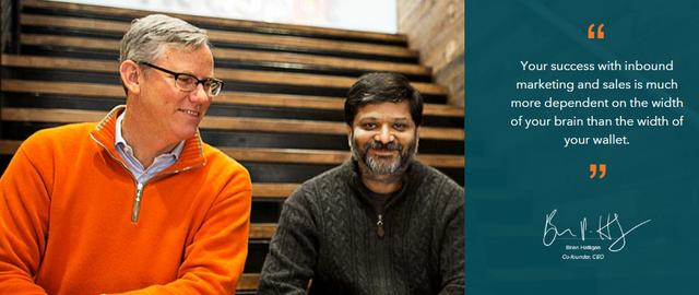 CEO Brian Halligan và CTO Dhamesh Shah, đồng sáng lập, Giám đốc công nghệ của HubSpot.