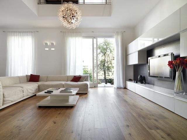 Sàn gỗ cũng rất phong phú và đa dạng về mẫu mã và kiểu dáng.