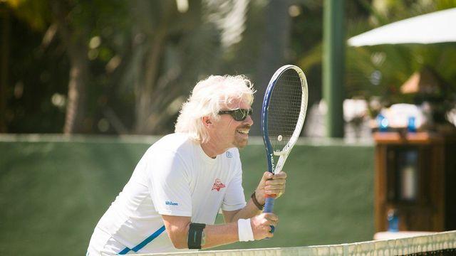 Nếu không kinh doanh, có lẽ Richard Branson đã theo đuổi sự nghiệp quần vợt chuyên nghiệp.