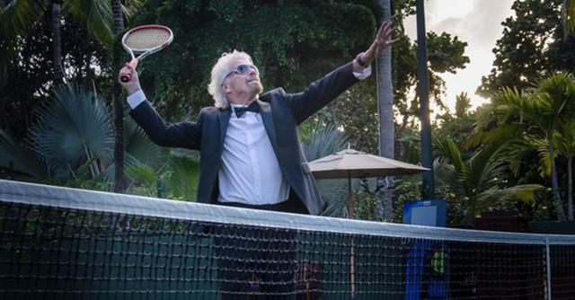 Tennis là đam mê của tỷ phú Richard Branson.