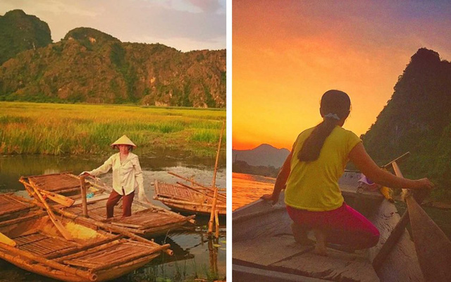 Đạo diễn Vogt-Roberts rất ấn tượng với những người phụ nữ chèo thuyền ở Ninh Bình.