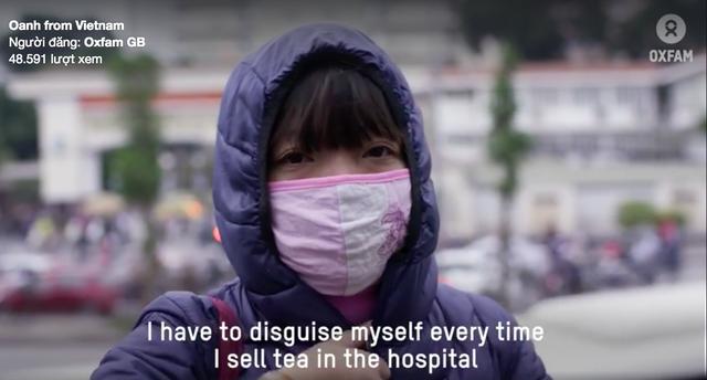 Oanh cải trang để đi làm (ảnh cắt từ phim của Oxfam)