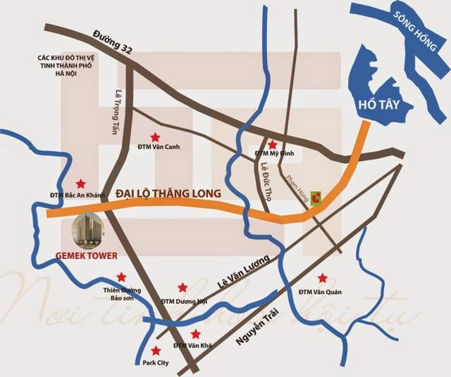 Dự án tọa lạc tại Huyện Hoài Đức, Hà Nội.