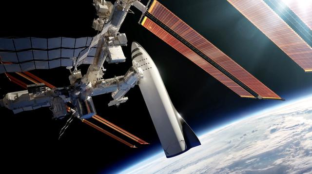 Mô phỏng phi thuyền BFR kết nối với ISS.