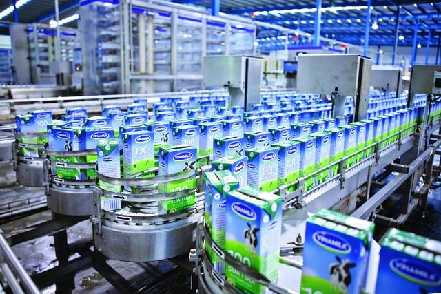 Dây chuyền sản xuất sữa của Vinamilk.