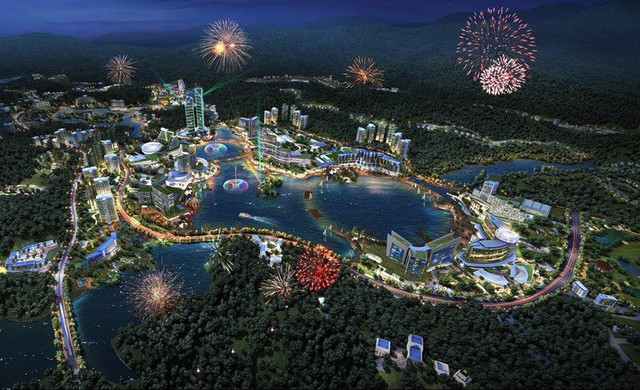 Phối cảnh khu tổ hợp nghỉ dưỡng có casino của Sungroup