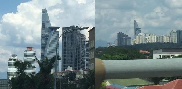 Hình ảnh tòa cao ốc chọc trời ở Kuala Lumpur (Malaysia) được một du khách người Việt đi du lịch ở Malasia tung lên mạng.