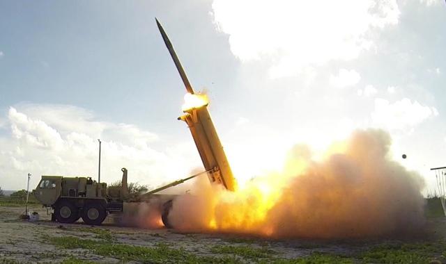 Tên lửa của Hệ thống Phòng thủ tầm cao THAAD của Mỹ.