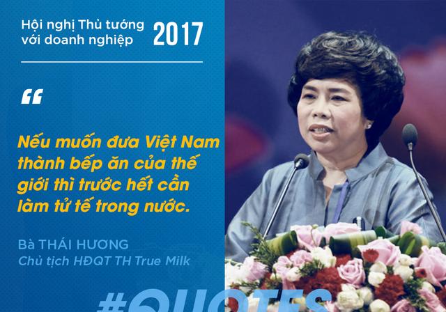 Bà chủ TH Thái Hương thì cho rằng cần phải ban hành những quy định, quy chế liên quan đến tiêu chuẩn an toàn vệ sinh thực phẩm. Bởi đây là cơ sở để các doanh nghiệp cạnh tranh với nhau một cách lành mạnh.