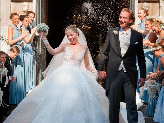 Victoria Swarovski và vị hôn phu.