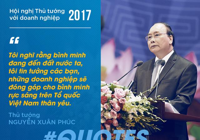 Với những nỗ lực từ phía Chính phủ, cộng với sự hỗ trợ, thông cảm từ doanh nghiệp, Thủ tướng Nguyễn Xuân Phúc cho rằng những vấn đề của nền kinh tế sẽ được xoá bỏ trong tương lai. Thông qua đó, bức tranh kinh tế sẽ ngày một sáng đẹp hơn.