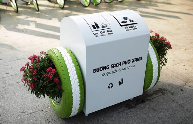 Thùng rác thông minh tại Đà Nẵng.