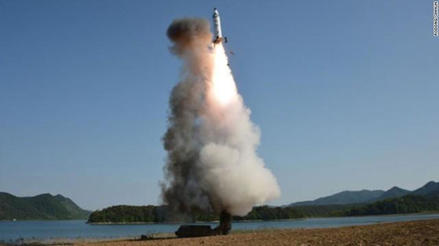 Một vụ thử tên lửa của Triều Tiên.