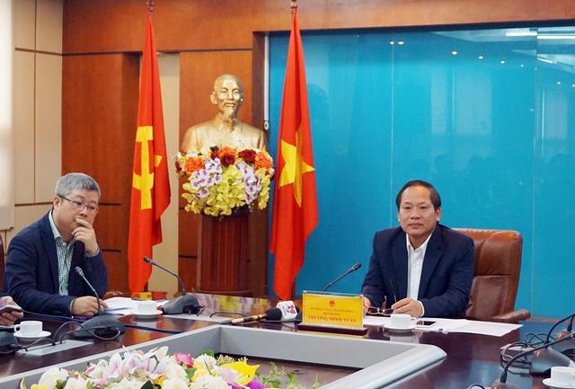 Bộ trưởng Trương Minh Tuấn chủ trình buổi làm việc.