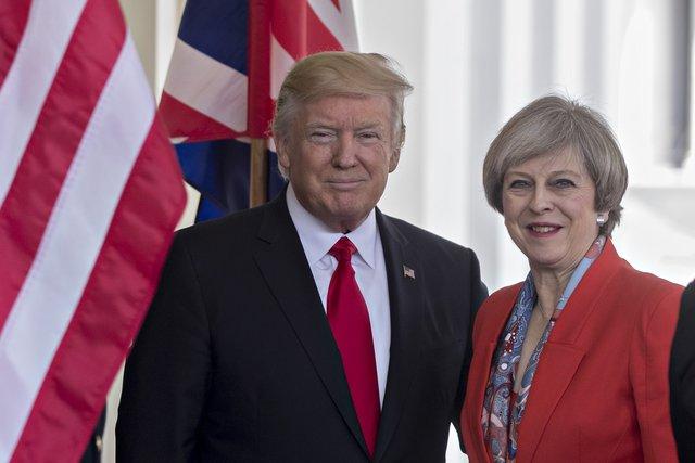 Tổng thống Trump và Thủ tướng Anh Theresa May.