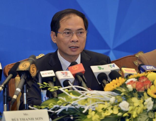 Thứ trưởng Ngoại giao Bùi Thanh Sơn. Ảnh: Hoàng Anh