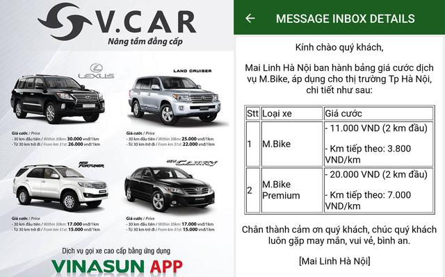 &lt;br /&gt;<br /> Vinasun mua sắm những xe đời mới của Toyota và Lexus cho dịch vụ xe hợp đồng điện tử V.Car.&lt;/p&gt;<br /> &lt;p&gt;Mai Linh cung cấp dịch vụ M.Bike để cạnh tranh với uberMOTO và GrabBike.&lt;br /&gt;<br />