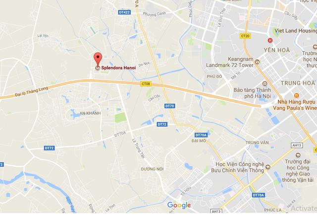 Dự án tọa lạc tại khu vực Đại Lộ Thăng Long, cách Big tầm 7km.